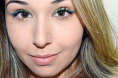 Maquiagem Com Delineado Gradiente E Colorido