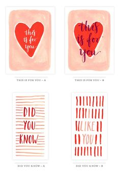 Pin for Later: 50+ Free Valentine's Printable Cards That Aren't Corny Watercolor Valentine's Printables We're loving the watercolor art on these printables. Click to see four more cards in the same style.