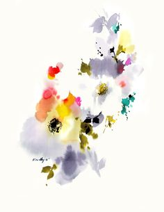 Original watercolor #101 | Helen Dealtry for Woking Girl Designs