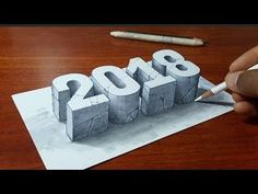 How to Draw 3D Letter M - Drawing with pencil - By Vamos - YouTube