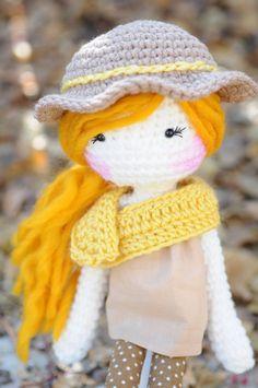 Handmade Crochet Dolls by LinaMarieDolls on Etsy ______________ rag doll // plush doll // fabric doll // soft doll // crochet doll // handmade doll // personalized doll