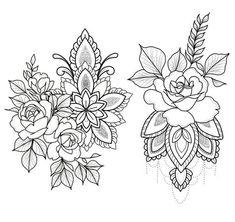 Tattoo Lotus Dotwork Blackwork Ideas For 2019 Music Tattoos, Arrow Tattoos, Foot Tattoos, Flower Tattoos, Arm Tattoo, Doodle Tattoo, Tattoo Magazin, Watercolor Flower, Girls With Sleeve Tattoos