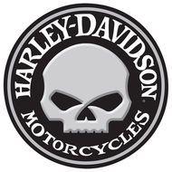 Harley Davidson Willy Skull Sign