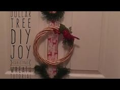 DIY Dollar Tree Christmas JOY Wreath Tutorial - YouTube