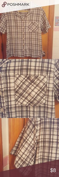 Never worn Erika button down shirt size 1 X Button down shirt with collar 1 pocket on front 6 buttons 100% Cotton  Machine wash cold tumble dry low  Erika brand Never worn! Erika Tops Button Down Shirts