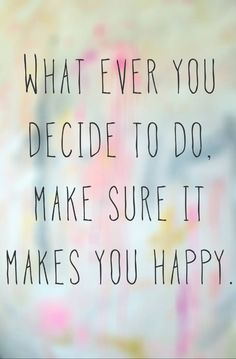 If it makes you happy...