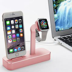 Awesome and Stylish. Dual Stand and Charger for Apple Watch and iPhone! Love it. Found on http://amzn.to/2sZatTS