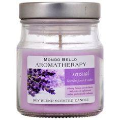 Mondo Bello Sensual Aromatherapy Scented Glass Jar Candle
