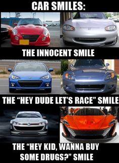 Car smiles. Car memes 04/16/15.