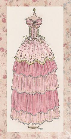 Un vestido de época clasica.