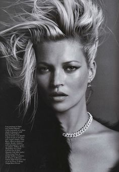 VOGUE PARIS: Kate Moss With a Hard-Edge by Inez & Vinoodh = nailed it!