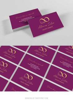 Custom burgundy business cards with gold logo. Alexia Silva Holistic Therapist. Holistic brand, healer brand, psychic medium, reiki practitioner. #branding #logos #logoinspo #infinity #logo #olivebranches #brandinginspo #brand #logodesign #brandinspo #infinitylogo #farmhouse #rusticbrand #rustic #burgundy #gold #bizcards #businesscards Square Business Cards, Business Card Logo, Branding Portfolio, Reiki Practitioner, Rack Card, Brand Board, Online Entrepreneur, Gold Logo, Healer
