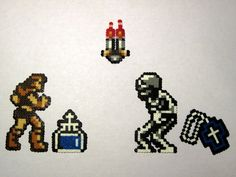 Castlevania simon theme magnet or keychain, choose your style, bead sprites.