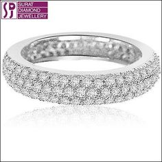 DIAMOND PAVE SETTING ETERNITY BAND 1.00ct