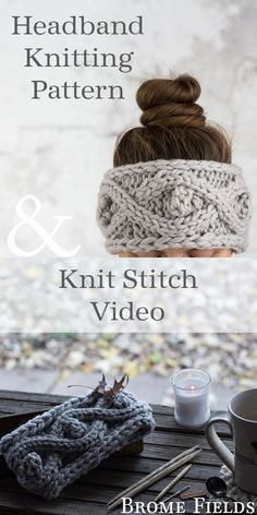 knit headband pattern Headband Knitting Pattern : Bobble Cable Knit Stitch : ENAMOROUS by Brome Fields Cable Knitting Patterns, Knitting Blogs, Vogue Knitting, Loom Knitting, Knitting Stitches, Knit Patterns, Knitting Projects, Knitted Headband Free Pattern, Crochet Pattern