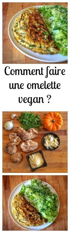 How to make a perfect vegan omelet for all tastes? - Want to make an egg-free omelet? I share my tips for making the vegan omelet of your dreams - Raw Food Recipes, Vegetarian Recipes, Cooking Recipes, Healthy Recipes, Vegetarian Breakfast, Vegan Breakfast Recipes, Desayuno Paleo, Vegan Omelette, Tortillas Veganas