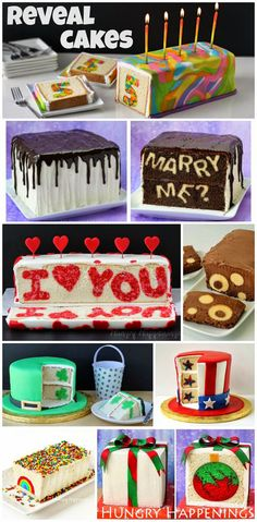 ... marry me reveal cake more cup cakes cakes pies cupcakes cake food