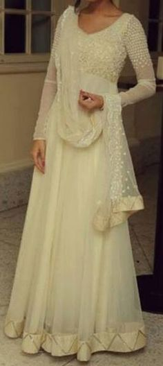 Beautiful floor-length #Anarkali by Kanika Kedia https://www.facebook.com/KediaKanika {on Amrita Rao}