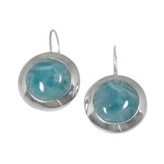 Sterling silver earring with round larimar for only US$ 106.25 at http://jewelryandmore.us/