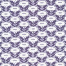 Lazy Daisy blue purple from Cloud9 Organic Fabrics Morning Song Collection by Elizabeth Olwen