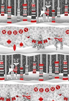 Holiday Magic Scenic Holiday Stripe 	9801-99