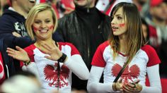 Poland fans enjoy the atmosphere