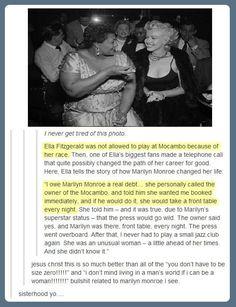 A Woman Ahead Of Her Times…When Marilyn Monroe met Ella Fitzgerald