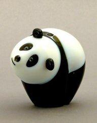 Orient and Flume Panda Bear Cub Glass Sculpture