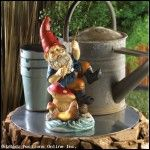 Fishing Gnome Solar Light Statue - FREE SHIP Continental 48 US States ONLY
