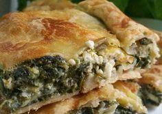 Greek Cooking, Spanakopita, Greek Recipes, Macaroni, Delish, Yummy Food, Delicious Recipes, Lunch, Bread
