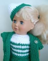 "Wearing the Green – 18"" doll - Free Original Patterns - Crochetville"