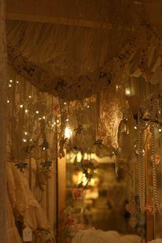 Sheelin Antique Lace Shop..love the lighting