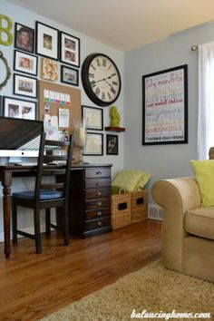 Living room updates to bring #color and personality to the space. - Click image to find more DIY & Crafts Pinterest pins