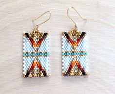 Golden Sunrise Earrings by wildmintjewelry on Etsy