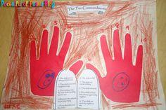 10 commandments handprint craft. Ten ways to be perfect lesson