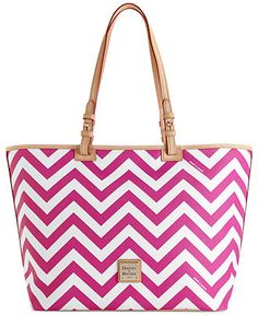 Dooney & Bourke Chevron Leisure Shopper - Dooney & Bourke - Handbags & Accessories - Macy's