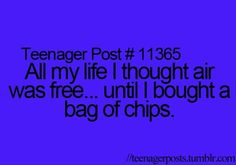 That's pretty much all that's in there! You only get like eight chips!