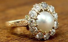 not traditional, but very stylish.  Antique engagement rings