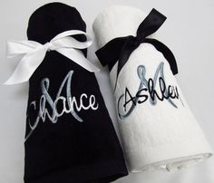 Mr. and Mrs. Embroidered Towel Set