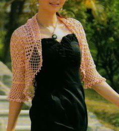 Crochet Sweater: Bolero Shrug - Lace crochet Shrug For Summer