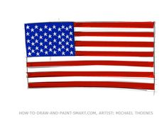 Draw your own American flag graphics and American Flag Clipart. A few easy tricks help you to know how to draw the American Flag. You can do it with thee easy step by step flag drawing instructions.