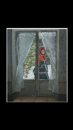 """Claude Monet - """" The red kerchief - Portrait of Mrs. Monet """", 1873 - Huile sur toile - 99 x 79,8 cm - Cleveland Museum of Art"""