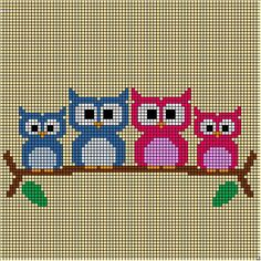 My owl family cushion cover is finally finished! I used my favorite 'invisible' hook and DMC Petra size 8 for this project. This is (corner to corner) method using hdc's. More information about this method you can find … Continue reading → Cross Stitch Quotes, Cute Cross Stitch, Cross Stitch Bird, Cross Stitch Borders, Cross Stitch Designs, Cross Stitching, Cross Stitch Patterns, Crochet Cushion Cover, Crochet Cushions