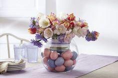 Des œufs colorés à l'intérieur, un joli bouquet qui en ressort, ce porte-pot à bougie Glolite Clearly Creative sublimera parfaitement votre déco de table pour Pâques. #PartyLiteYourWay