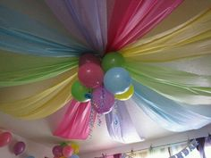 Use plastic table covers to decorate for a birthday or spring themed gathering, cute, fun, n easy on the pocket