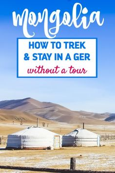 How to go trekking in Mongolia and stay in a Mongolian ger (or yurt) without taking a tour. Amazing Destinations, Travel Destinations, Travel Guides, Travel Tips, Travel Advice, Mongolian Ger, Backpacking Asia, Asia Travel, Trekking