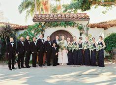Casa Romantica Wedding, San Clemente wedding photographer, bridal party, casa romantica wedding photos, summer wedding, classic wedding