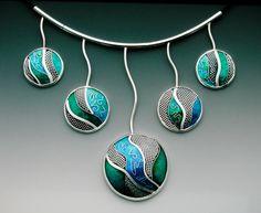 "Lisa Hawthorne ""Silver Stream"" necklace  -  ooh..."