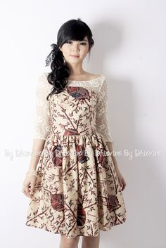 Batik dress | Kebaya Dress | Pendapa Batik Brown Dress | DhieVine | Redefine You