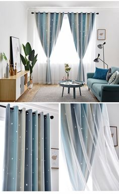 Max Blackout Curtain Hollow Star Curtain With Sheer Curtain Bedroom Curtain (One Panel) Home Room Design, Curtains Living Room Modern, Home Curtains, Sheer Curtains Bedroom, Living Room Decor Apartment, Living Room Decor Curtains, Easy Room Decor, Baby Room Curtains, Girl Bedroom Decor